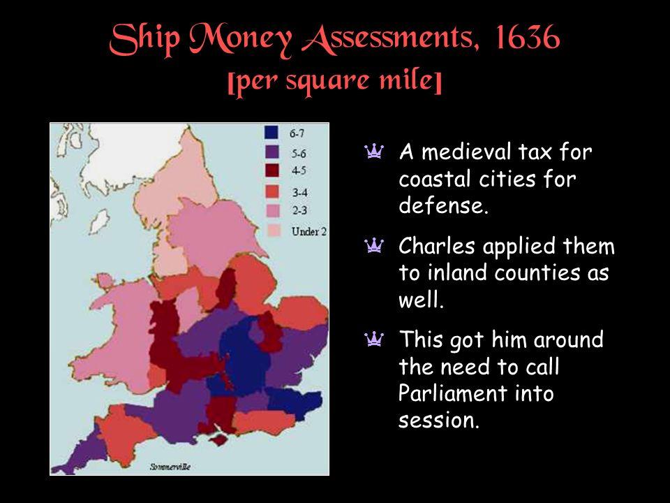 Ship Money Assessments, 1636 [per square mile]